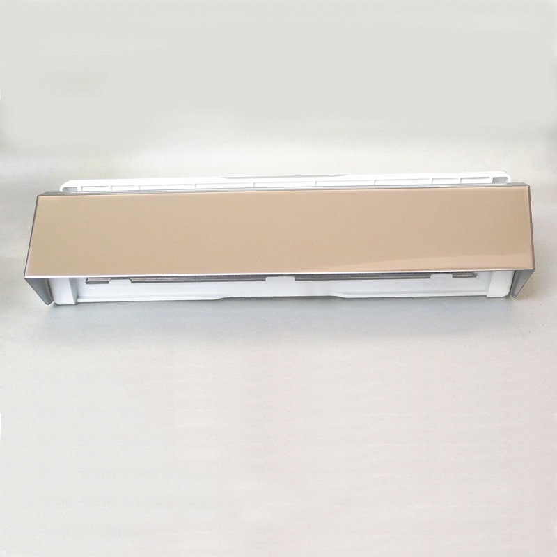 Aluminium mail slot with stainless steel safety casing